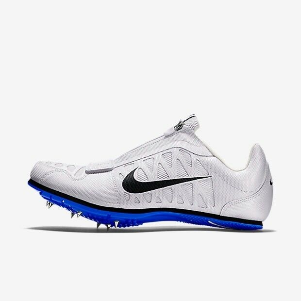 NIKE Zoom LJ 4 Long Jump Men's Track Shoes White Blue 415339 100 Comfortable Casual wild