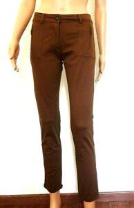 pantalon femme marron zara