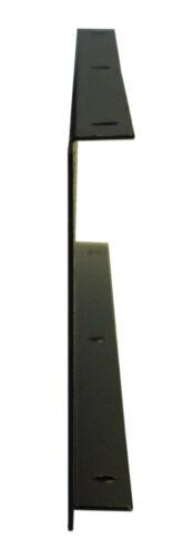 2U Rack Panel 12 XLR Hole 19 inch Folded Power Coated Black