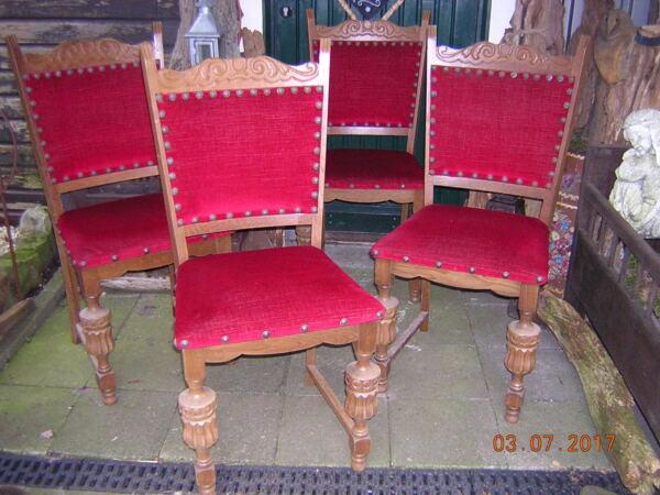4 Antike Stühle Eiche
