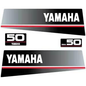 Image Is Loading Yamaha 50 Outboard Decal Aufkleber Adesivo Sticker Set