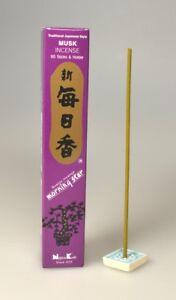 Japan Räucherstäbchen Brenndauer a 25 Minuten Duft Musk Halter 50 Stäbe