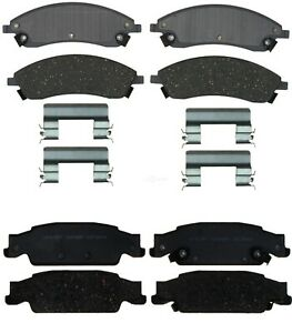 Front and Rear Ceramic Discs Brake Pads For 2006-2007 Cadillac CTS Pair Kit