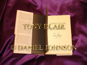 TONY-BLAIR-A-JOURNEY-HAND-SIGNED-AND-HANDLED-HARDBACK-BOOK-IN-HIS-HOME-RESIDENCE