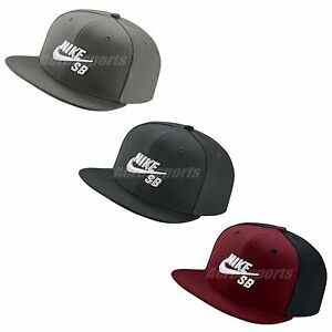 fd7624d4d9f8c Nike Logo SB Icon Pro Cap Black White Adjustable Hat Snapback ...