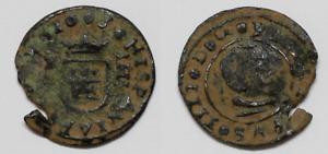 4 Maravedis FELIPE IV Año 1663, Ceca Cuenca. Epoca Colonial ESPAÑA   Rara