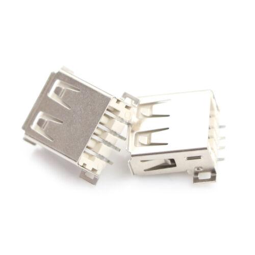 10pcs USB Type A 180 Degrees Socket Female Solder Plug Adapter Connector FDCA