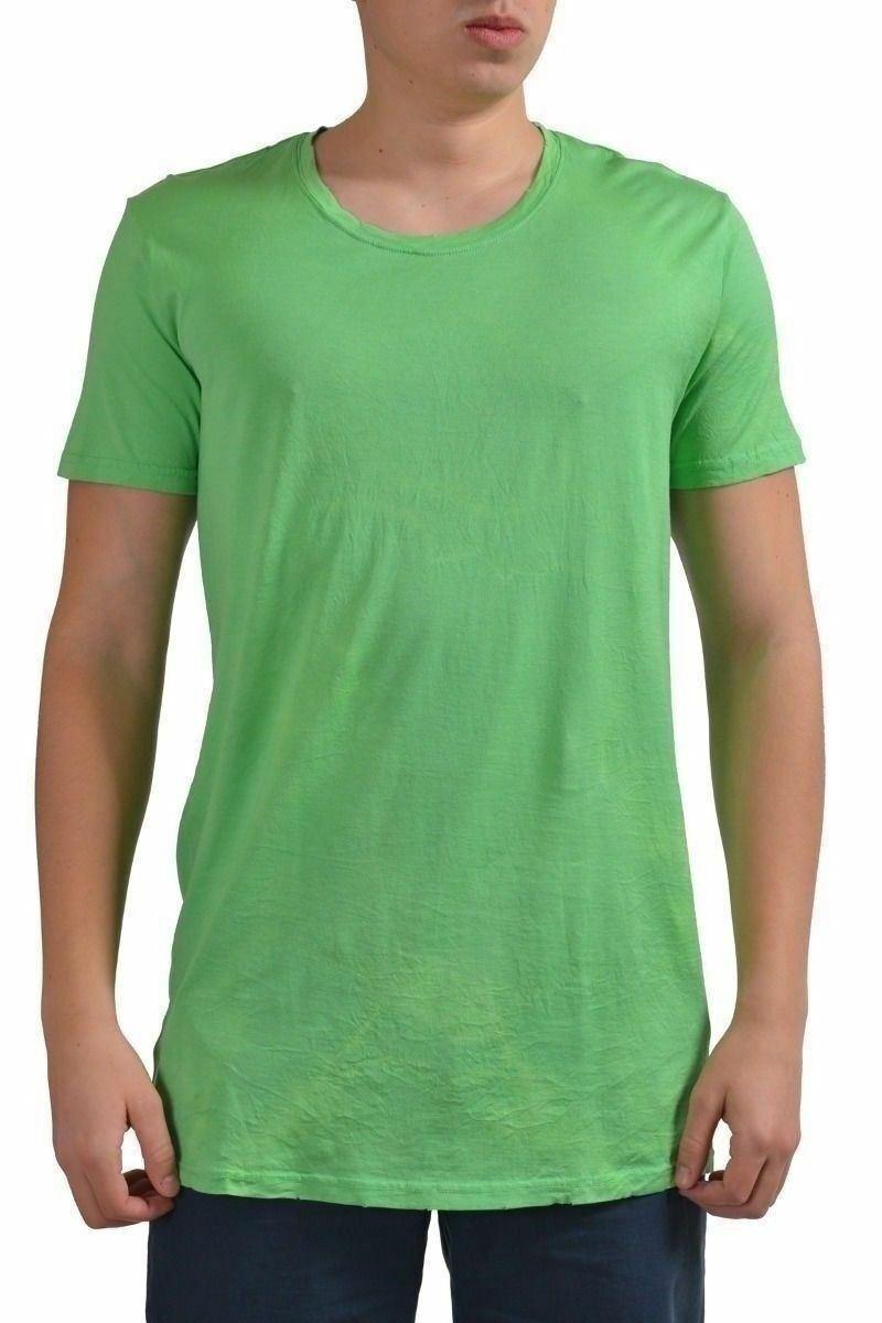 Balmain Men's Green Short Sleeve T-Shirt US L IT 52