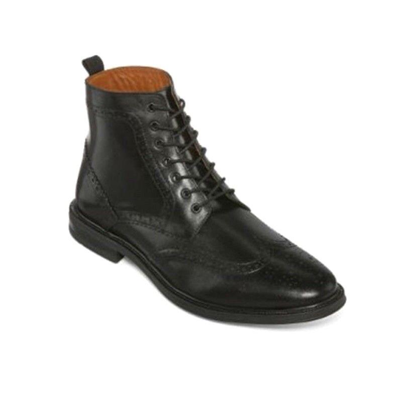 nouveau stafford hommes deacon en aile orteil noir en deacon cuir de tailles diverses bottines 748847