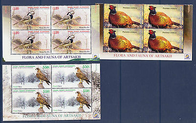 Asia Ambitious Nagorno Mountainous Karabakh Armenia 2013 Bird Birds Set In Bl Of 4 Mnh R15234 Armenia