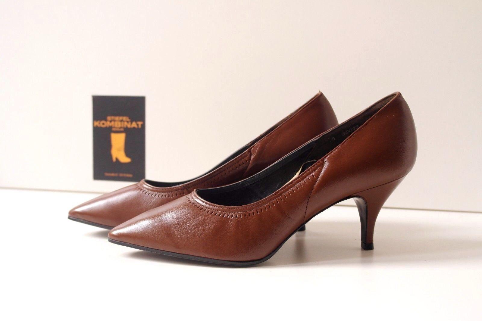 Rheinberger Madame Damen Pumps Ladis braun braun braun Schuhe TRUE VINTAGE Halbschuhe NOS c2a603