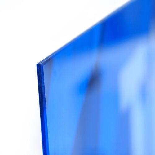Glas-Bild Wandbilder Druck auf Glas 125x50 Deko Kunst Grüne Wellen