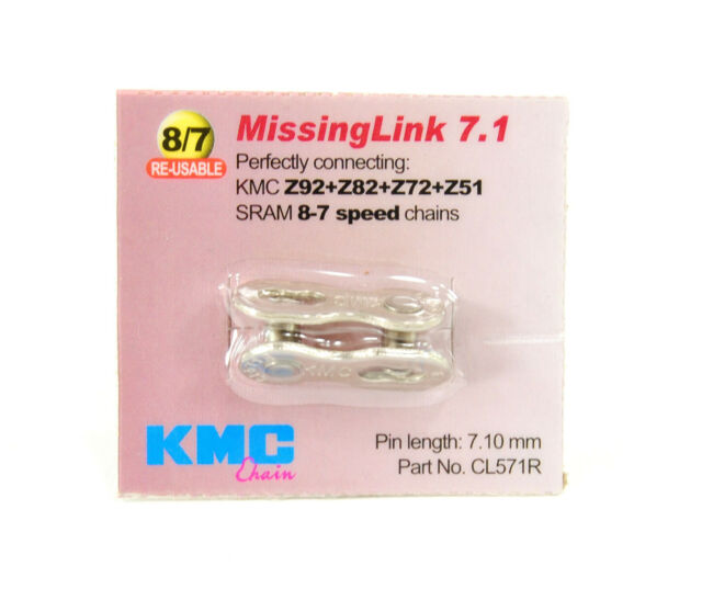 KMC BICYCLE CHAIN MISSING CONNECTOR LINK II 7&8 SPEED NEW