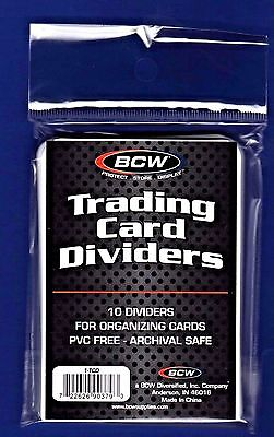 BCW Brand Trading Card Divider Cards TCD 30 Cards Total 10-Pack 3