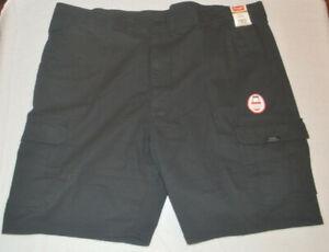 Men-039-s-Wrangler-Black-Relaxed-Fit-Cargo-Shorts-Sizes-42-44-46