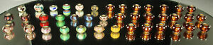 40-STERLING-MURANO-Charms-Beads-Lot-EUROPEAN-Slides-Lampwork-Art-Glass-20-NWOT