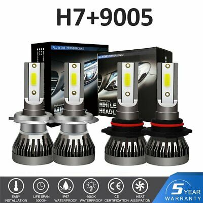 H7+9005 LED Headlight Bulbs Kit For Mazda 3 2007-2009 Mazda 6 2011-13 Hi//Lo Beam