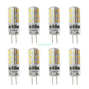 X8 G4 3014SMD LED Lampen Leuchtmittel Glühbirne Mais Birne Warmes Weiß DC12V 3W