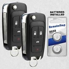 2 Car Flip Key Fob Keyless Remote 4Btn For 2010 2011 2012 2013 Chevrolet Camaro