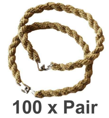 100 Pairs Trouser Twists Bungee Leg Twist Elastic Ties Army Combat Military Boot