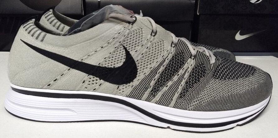Nike Flyknit Trainer Size 15 Pale Grey Black White Mens Sneaker shoes AH8396-001