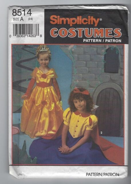 Fairy Tale Gowns Simplicity Costume Pattern 8514 Little Girl S Size 2 6