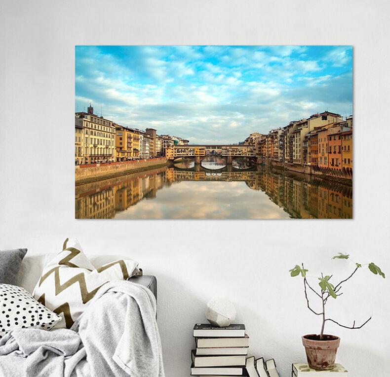 3D Fluss Stadt 436 Fototapeten Wandbild Fototapete BildTapete Familie AJSTORE DE