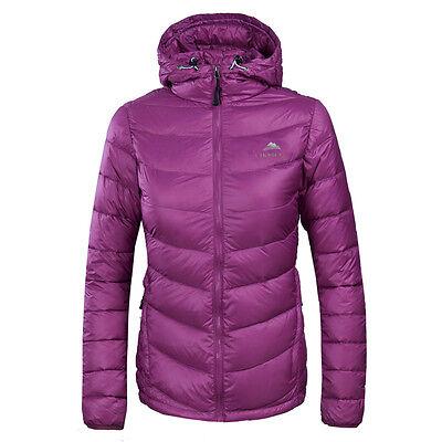 Womens Light Weight Puffer Cotton Down Jacket Hooded Parka Winter Outerwear Coat