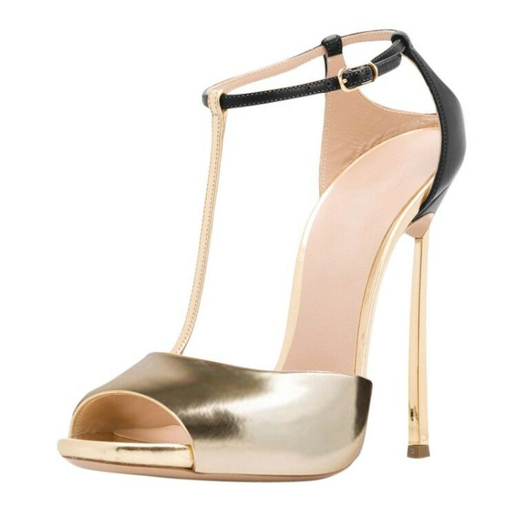 Women Open Toe Buckle Strap Stilettos High Heel Sandals Slingback Party shoes KK