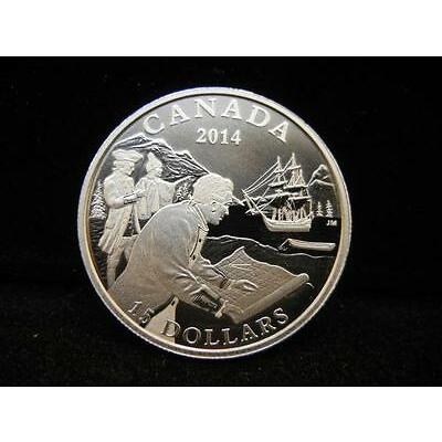 1A. Royal Canadian Mint 2014 $15 Fine Silver Coin Exploring Canada: The We... Lot 1A