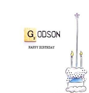 Image Is Loading Godson Birthday Bexyboo Scrabbley Neon Card Handmade