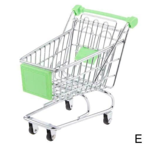 Kinder Rollenspiel Mini Metall Einkaufswagen /& Korb Heiß Handwagen N Superm S9A7