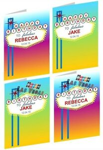 Image Is Loading PERSONALISED LAS VEGAS BIRTHDAY CARD VARIOUS DESIGNS