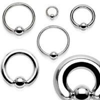 Captive Bead Ring CBR Steel UK SELLER Ear, Nipple, Prince Albert Tragus 0.8-10mm
