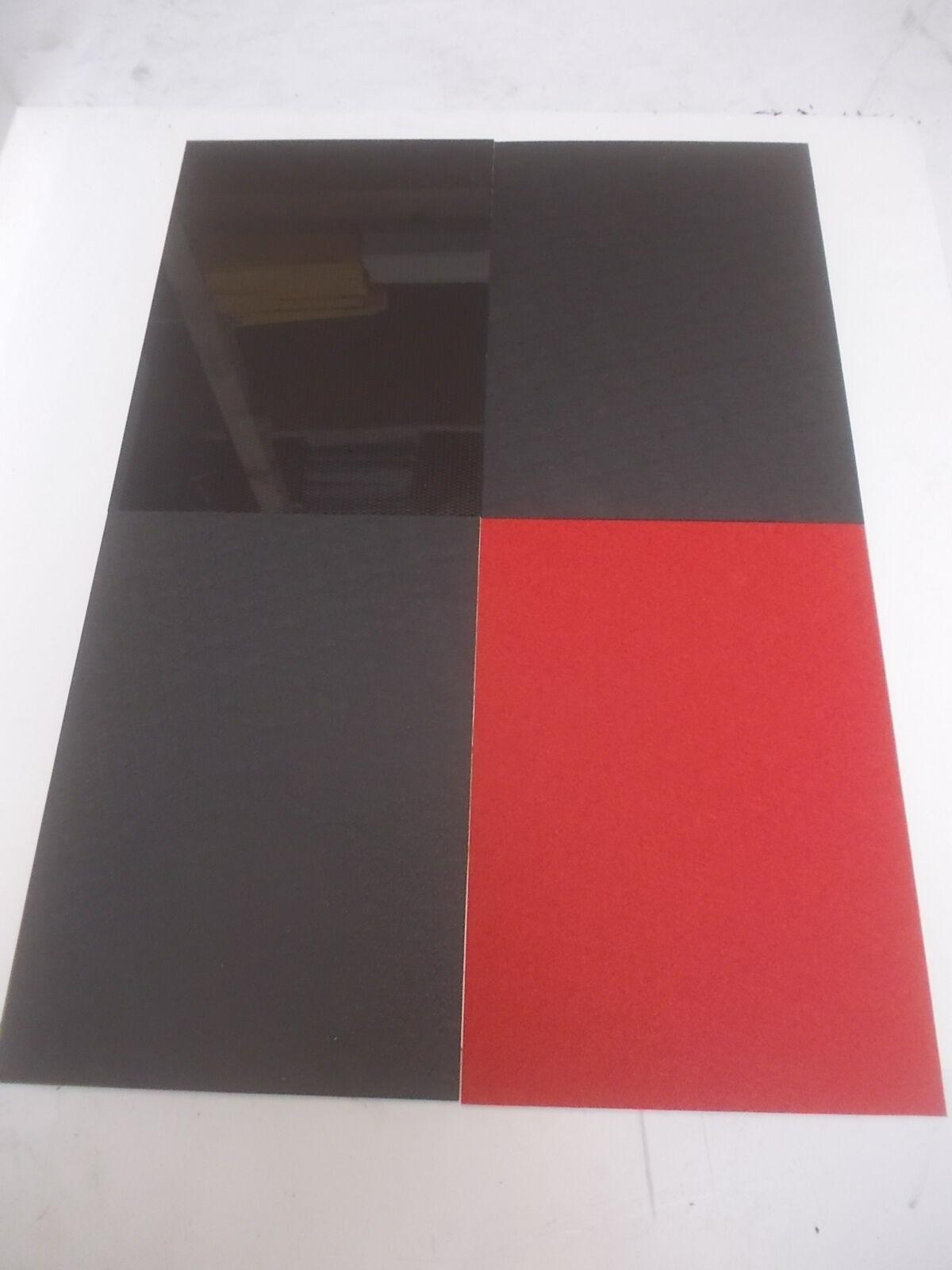 2 mm & 3 mm Black+Red Pinseal ABS Sheet A6 A5 A4 A3