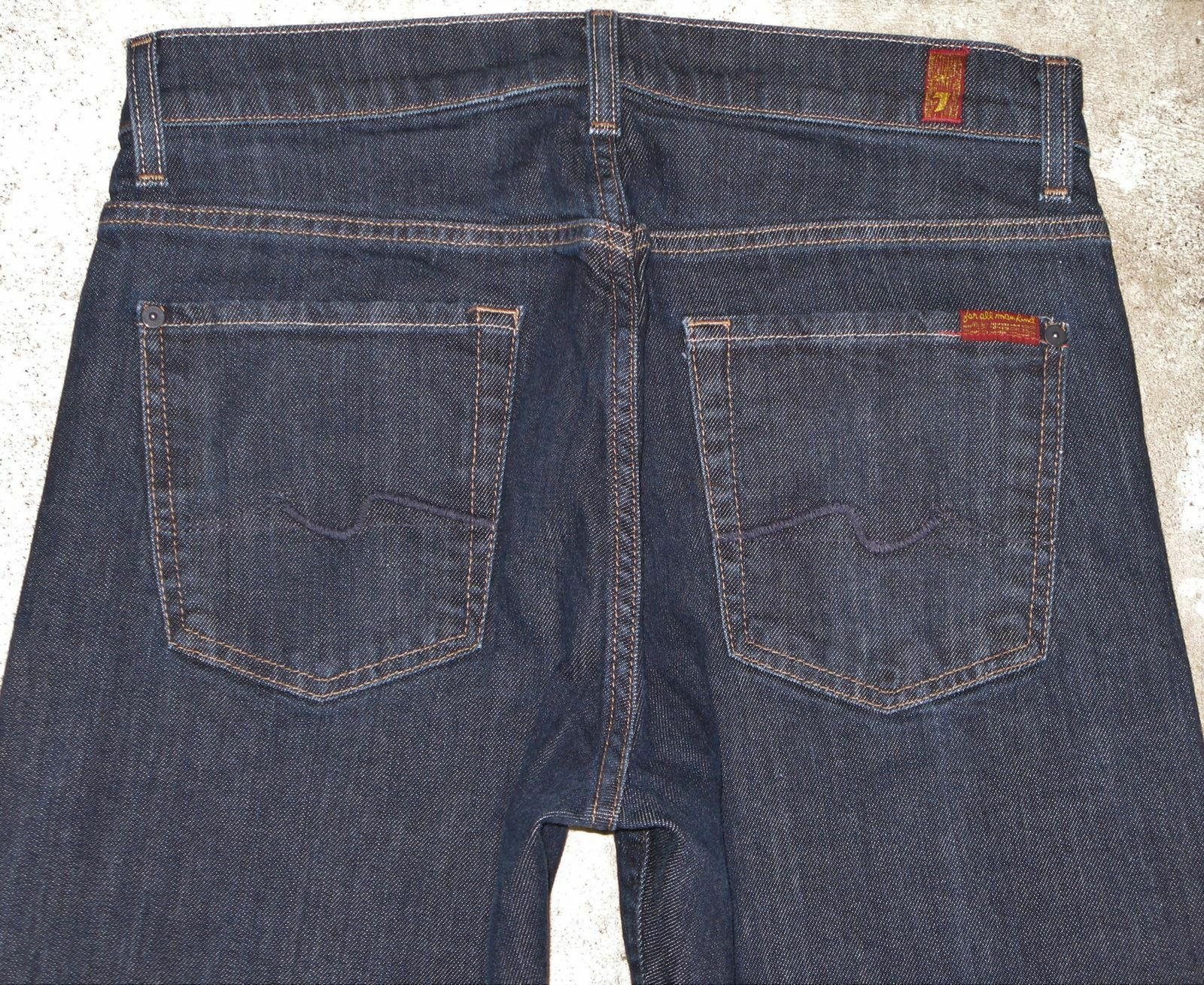 7 For all Mankind Mens Relaxed Jeans Sz 30 X 30 Dark bluee w Stretch