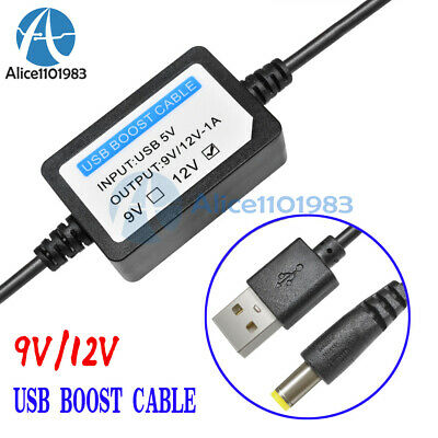 ShineBear DC-DC USB 9V//12V DC Jack 5.5MMx2.1MM Power Module Step-up Converter Cable Cord Z09 Cable Length: 12V