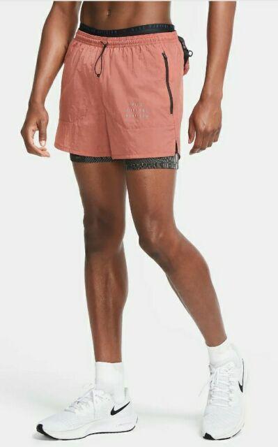 marca demanda ducha  Nike Run Division 3-in-1 Running Shorts Mens Cu5556 010 Packable Large for  sale online | eBay