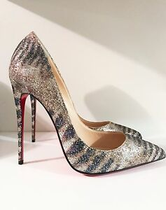 fe5b9986e31 Image is loading Christian-Louboutin-New-Pigalle -Follies-120MM-Glitter-Sirene-