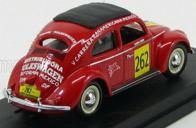 Wonderful modelcar VW BEETLE  262 CARRERA PANAMERICANA  1954 - red - 1 43 - lim.