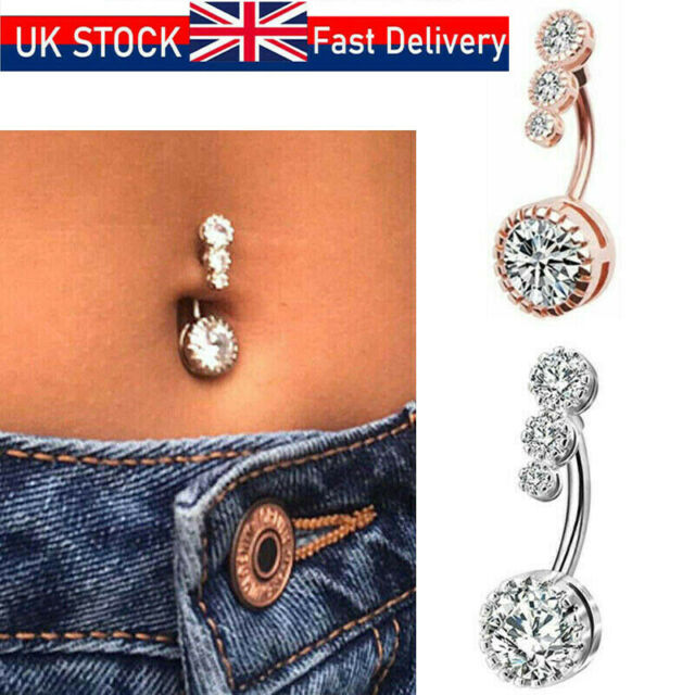 Fashion Women/'s Belly Button Navel Ring Silver Snake Body Piercing Jewelry YJ