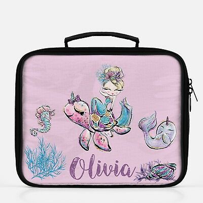 Kindergarten Gift Mermaid Lunch Box Personalized Lunch Bag For Girls Lunchbox Ebay