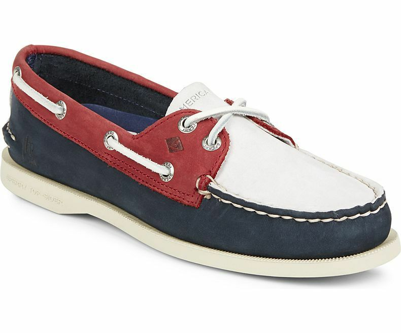 Scarpe casual da uomo  SPERRY 2-EYE BOAT SHOES- LIMITED AMERICAN CUP EDITION - RED, WHITE, AND BLUE