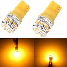 JDM ASTAR 2x T10 Amber Yellow 3014 18-SMD LED Bulb for Acura Side Marker Lights