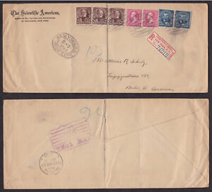 USA-United-States-1898-Registered-Cover-to-Germany