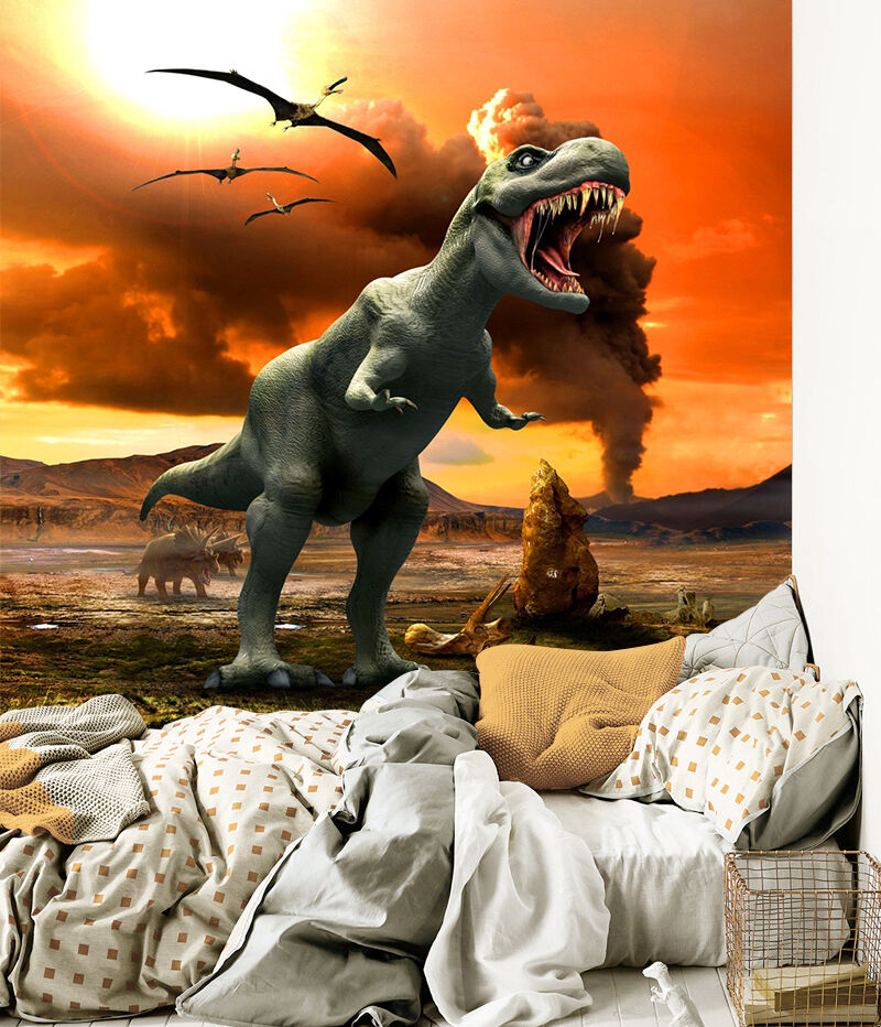 3D Cartoon Dinosaurs 25 Wall Paper wall Print Decal Wall Deco Indoor wall Mural