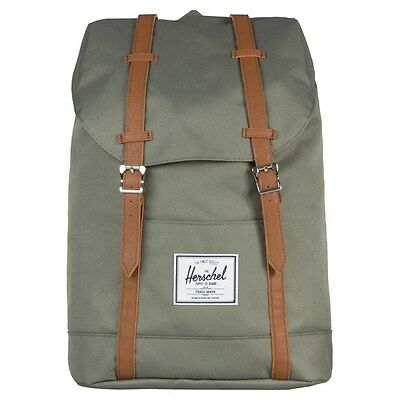 New Mens Herschel Green Retreat Polyester Backpack Backpacks