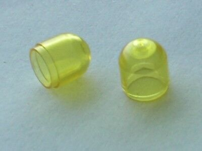 2 X Lego Electric Tryellow Light Colored Globe Ref 4773 / Set 6481 6480 6780