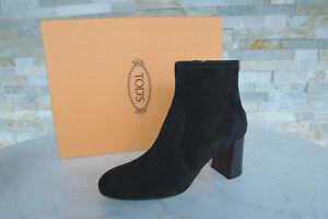 TODS-TOD-039-S-Bottines-T-40-5-Booties-Bottes-Chaussures-Noir-Nouveau-Ancien-Prix-Recommande-420