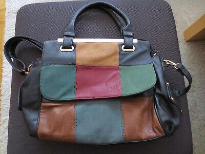 NEUE Bunte-Patchwork Handtasche-Damenhantasche L ca 33 cm x ca 31 cm